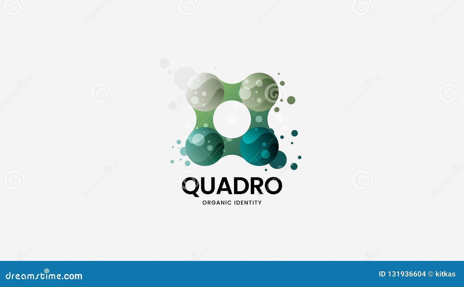 Abstrakcjonistyczny organicznie wektorowy logo znak Premii ilości logotypu emblemata ilustracja Zadziwiającej mody odznaki projek