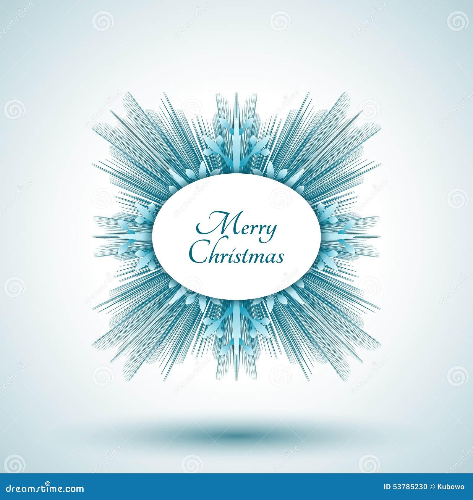 Abstrakcjonistyczny płatek śniegu z Wesoło bożych narodzeń znakiem