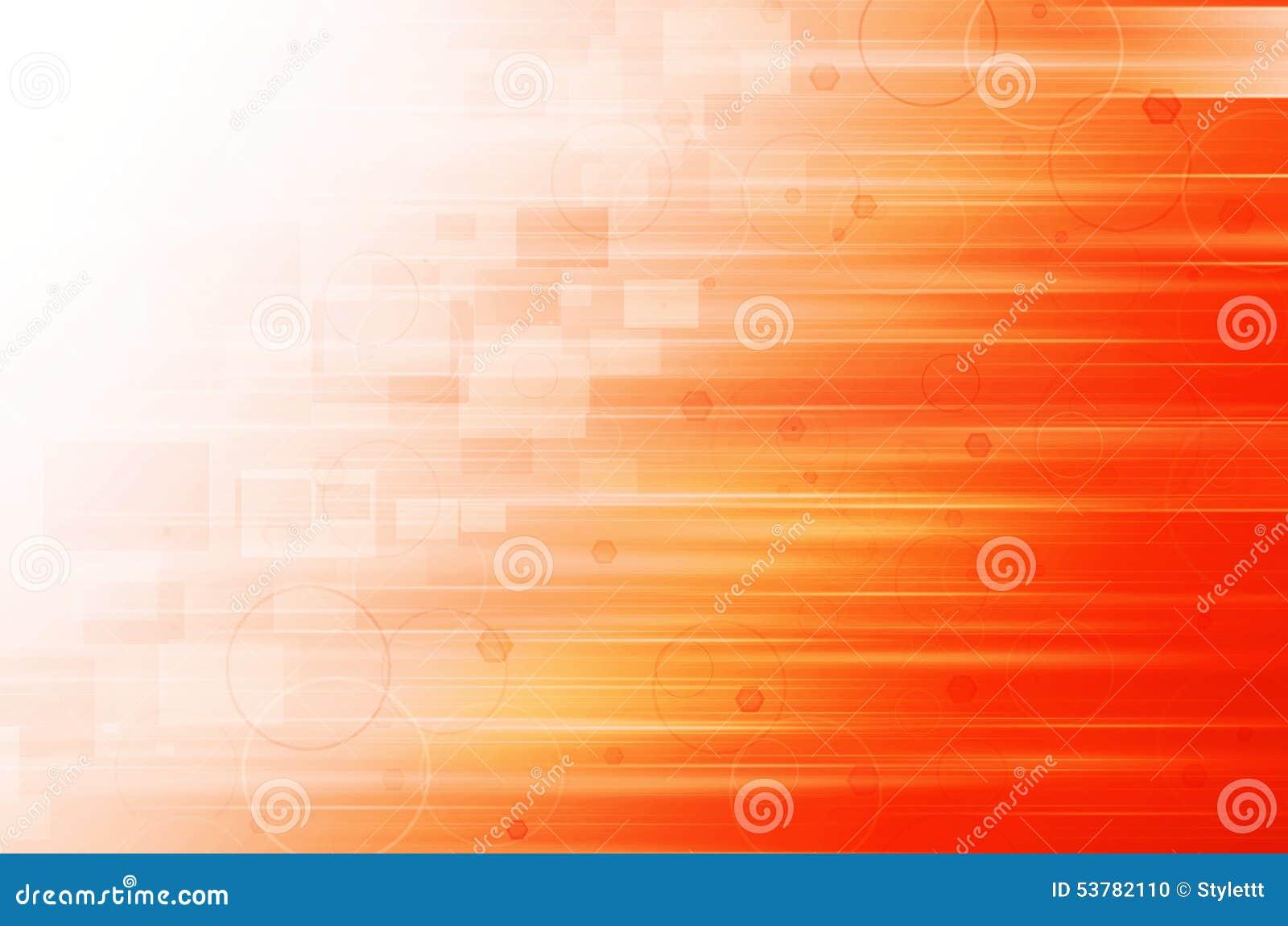 Abstrakcjonistyczny Pomarańczowy technologii tło