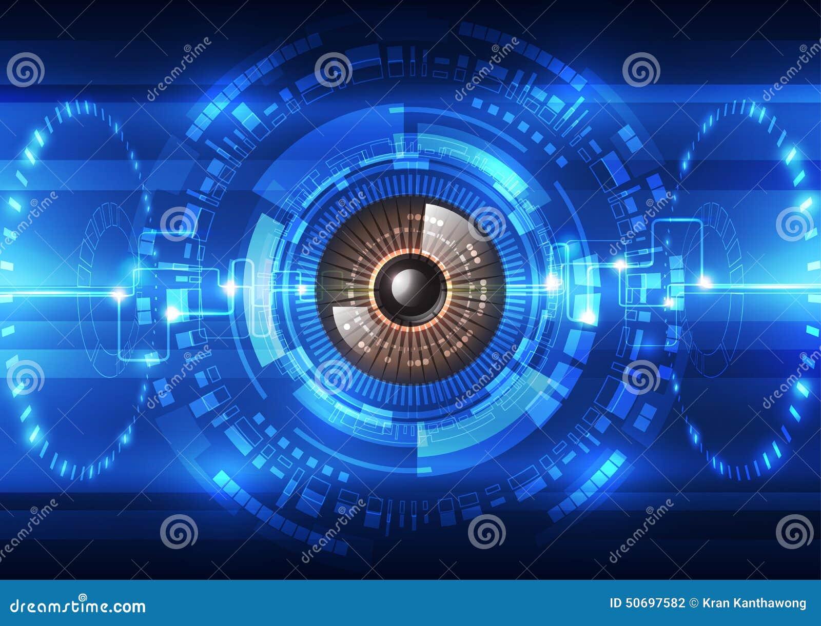 Abstrakcjonistyczny przyszłościowy technologia systemu bezpieczeństwa tło, wektorowa ilustracja