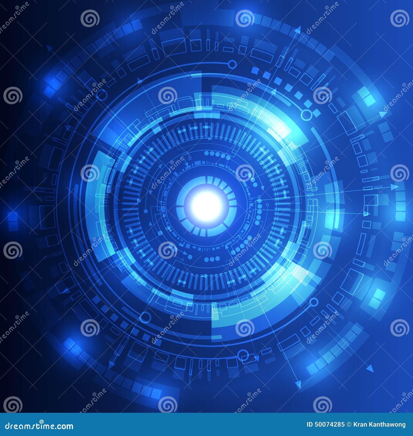 Abstrakcjonistyczny przyszłościowy technologii pojęcia tło, wektorowa ilustracja