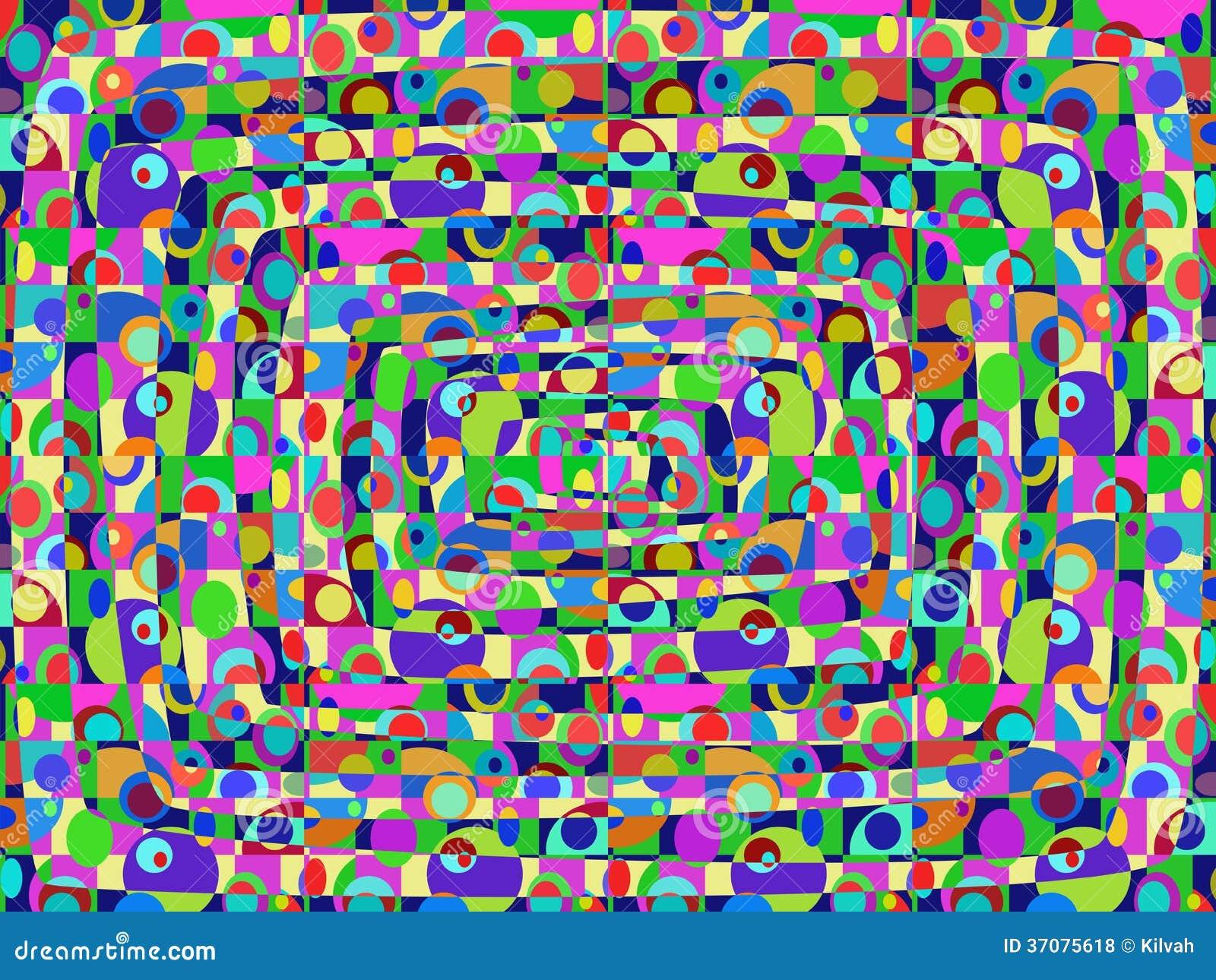Download Abstrakcjonistyczny Retro Tło Ilustracji - Ilustracja złożonej z tkanina, kolorowy: 37075618