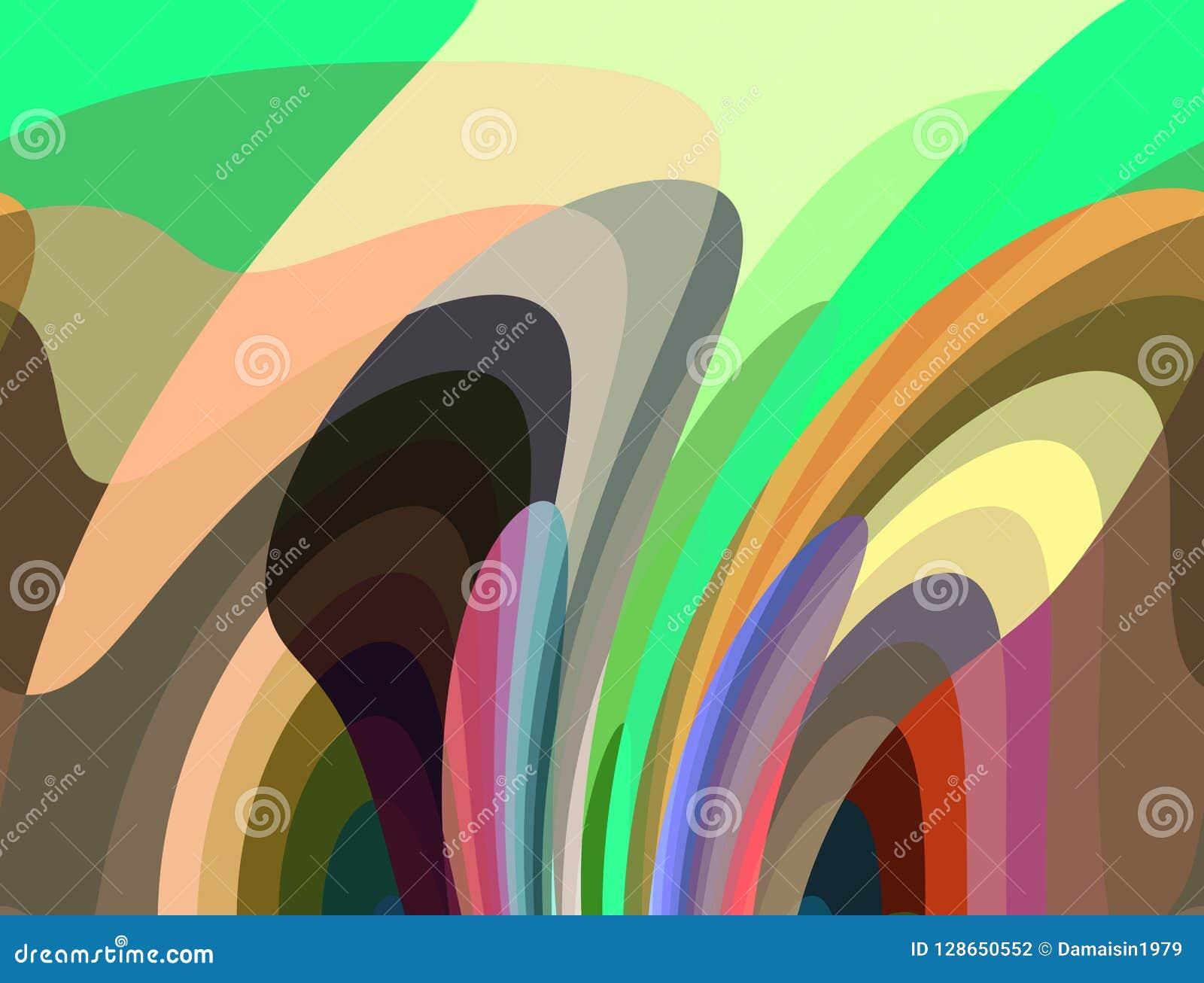 Abstrakcjonistyczny rzadkopłynny tło, kolory, geometrie, jaskrawy tło, kolorowe geometrie