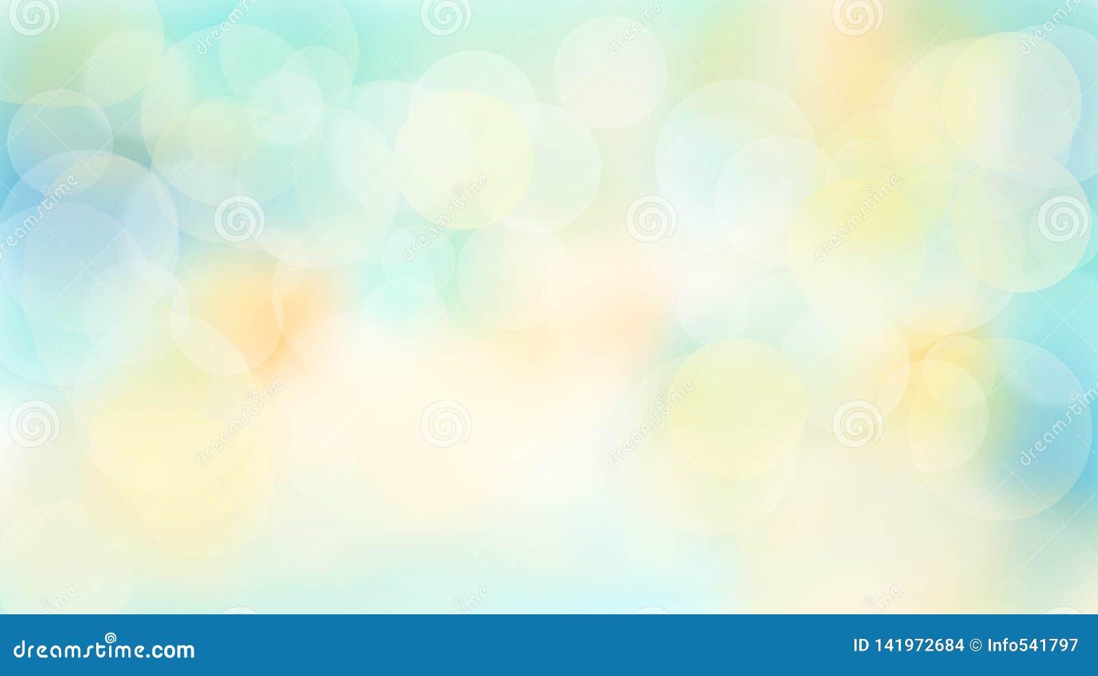 Abstrakcjonistyczny Stubarwny summery bokeh tło