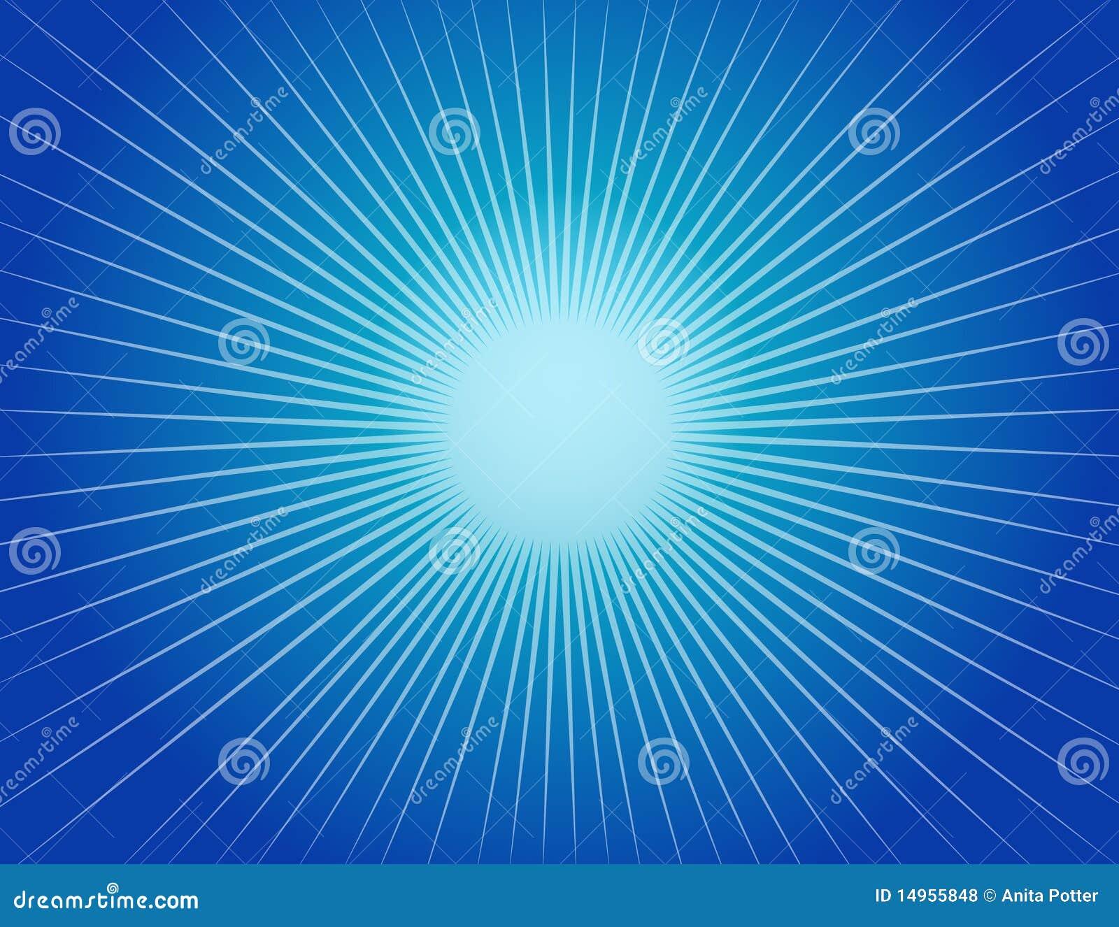 Abstrakcjonistyczny tła błękit starburst