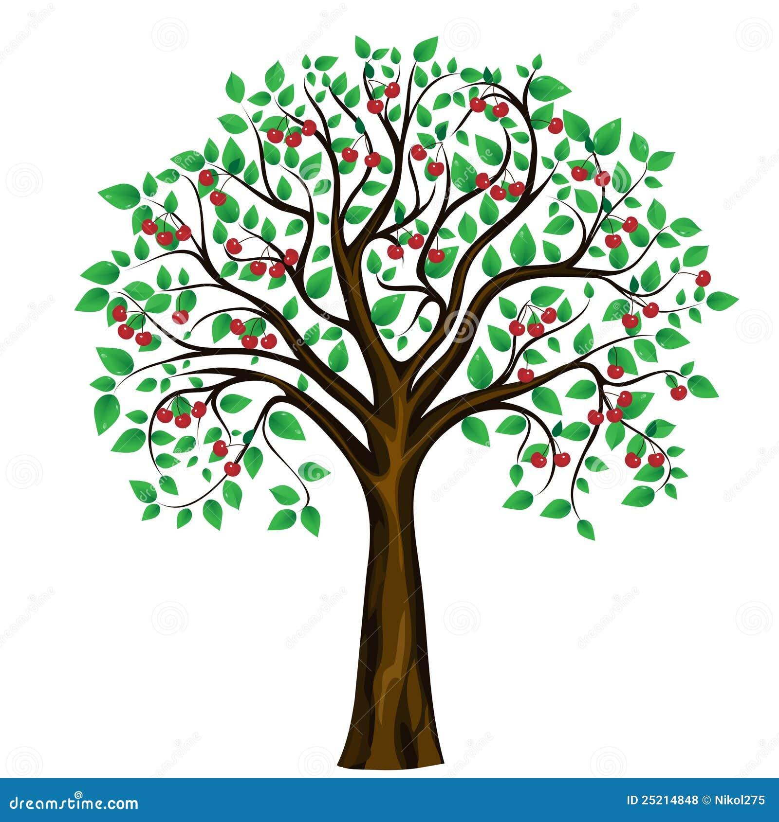 Abstrakcjonistyczny tła czereśniowego drzewa wektoru biel