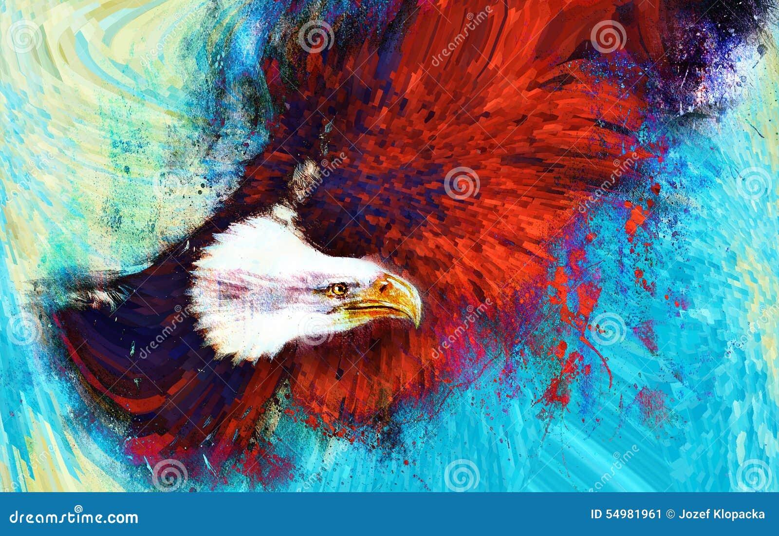 Abstrakcjonistyczny tło i ptak