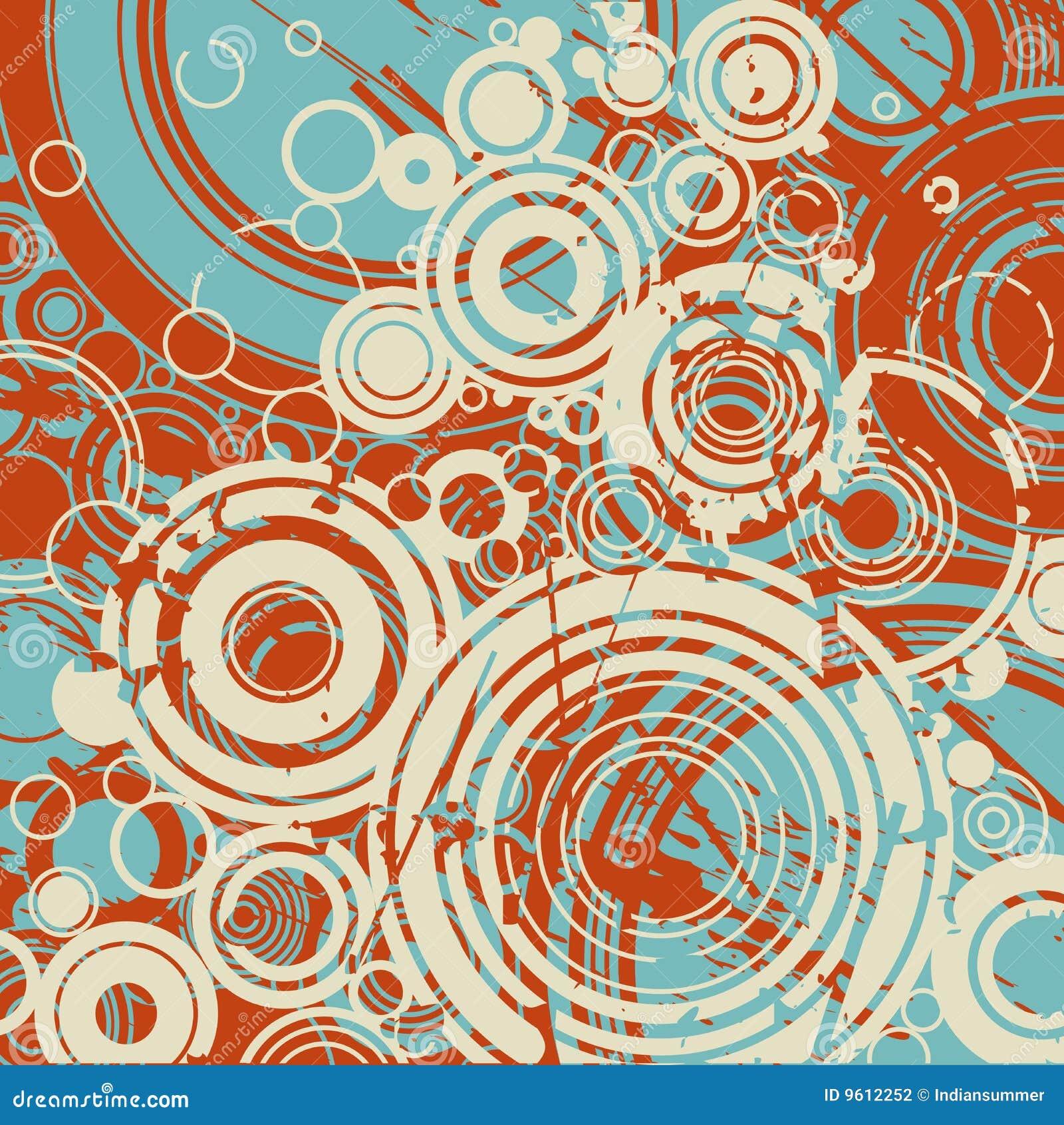 Abstrakcjonistyczny tło okrąża retro
