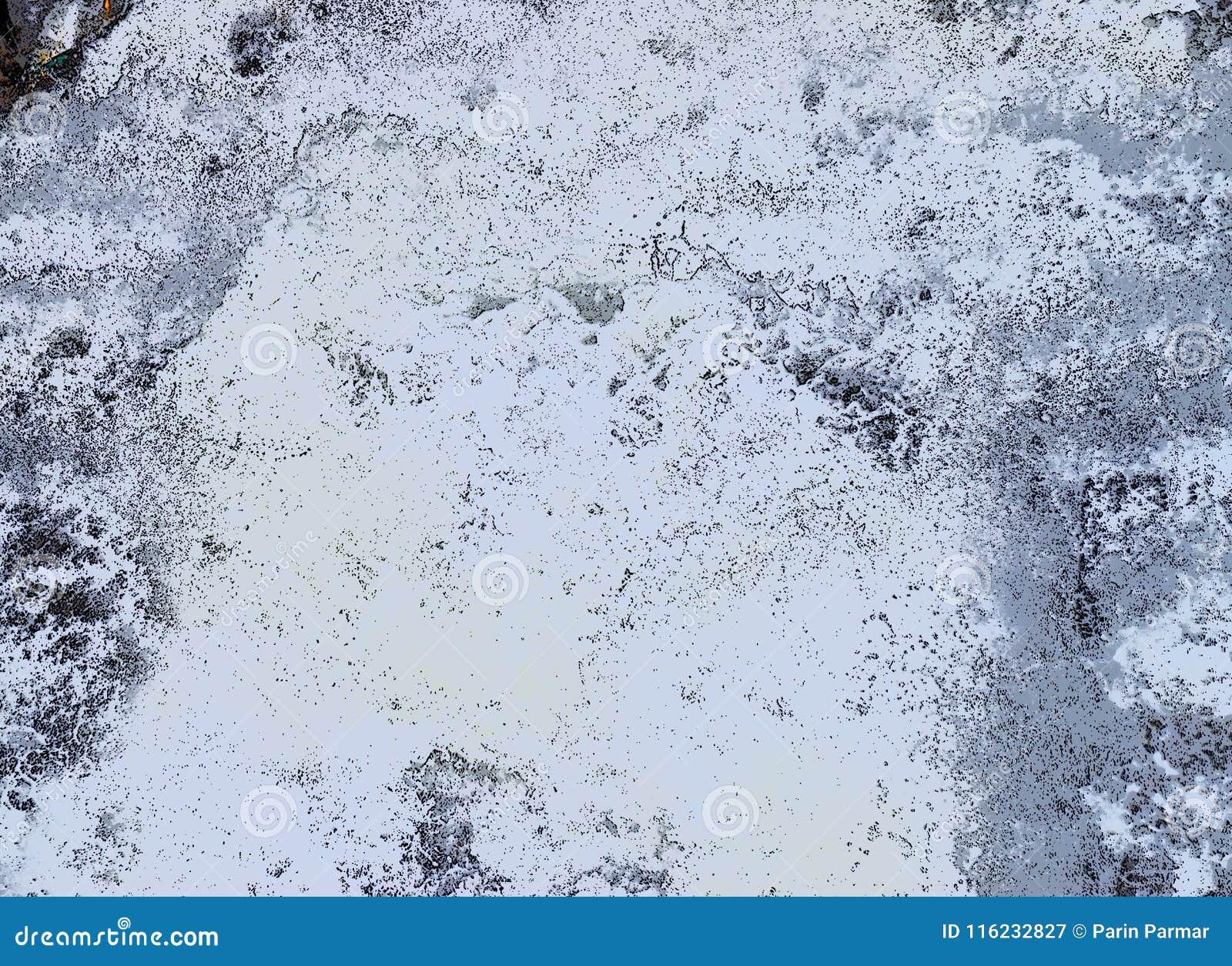 Abstrakcjonistyczny tło przepływ woda - Nieregularni biel kształty z czernią i Popielatymi odcieniami -