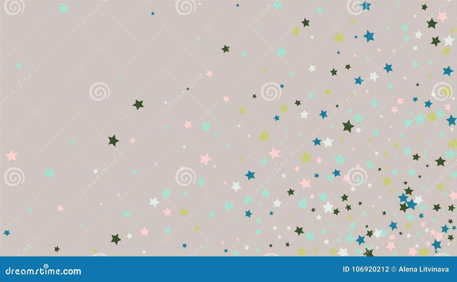 Abstrakcjonistyczny tło z Wiele Przypadkowymi Spada Złotymi gwiazdami