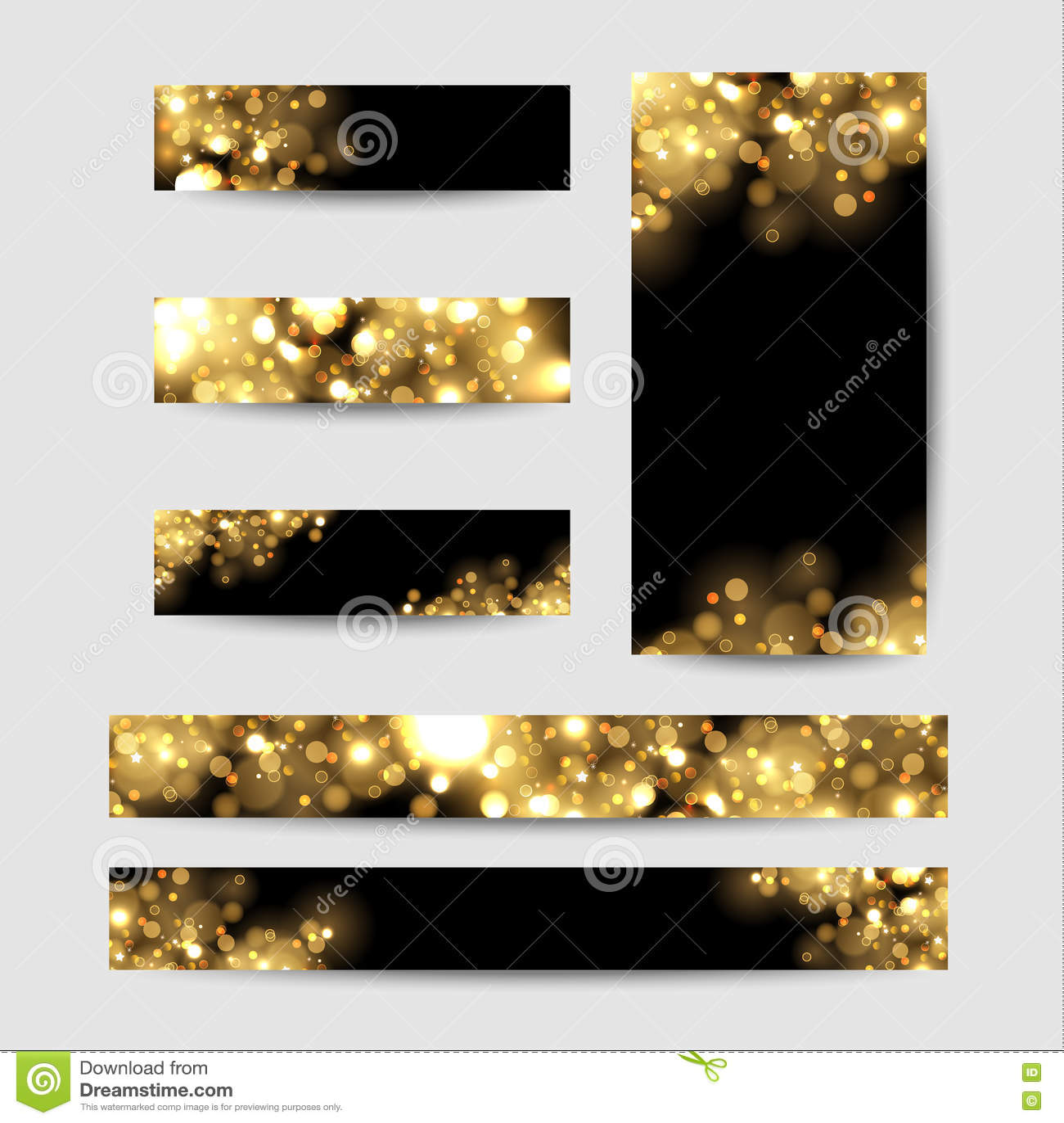 Abstrakcjonistyczny tło z złotem błyska Błyszczący defocused złocisty bokeh zaświeca na czarnym tle