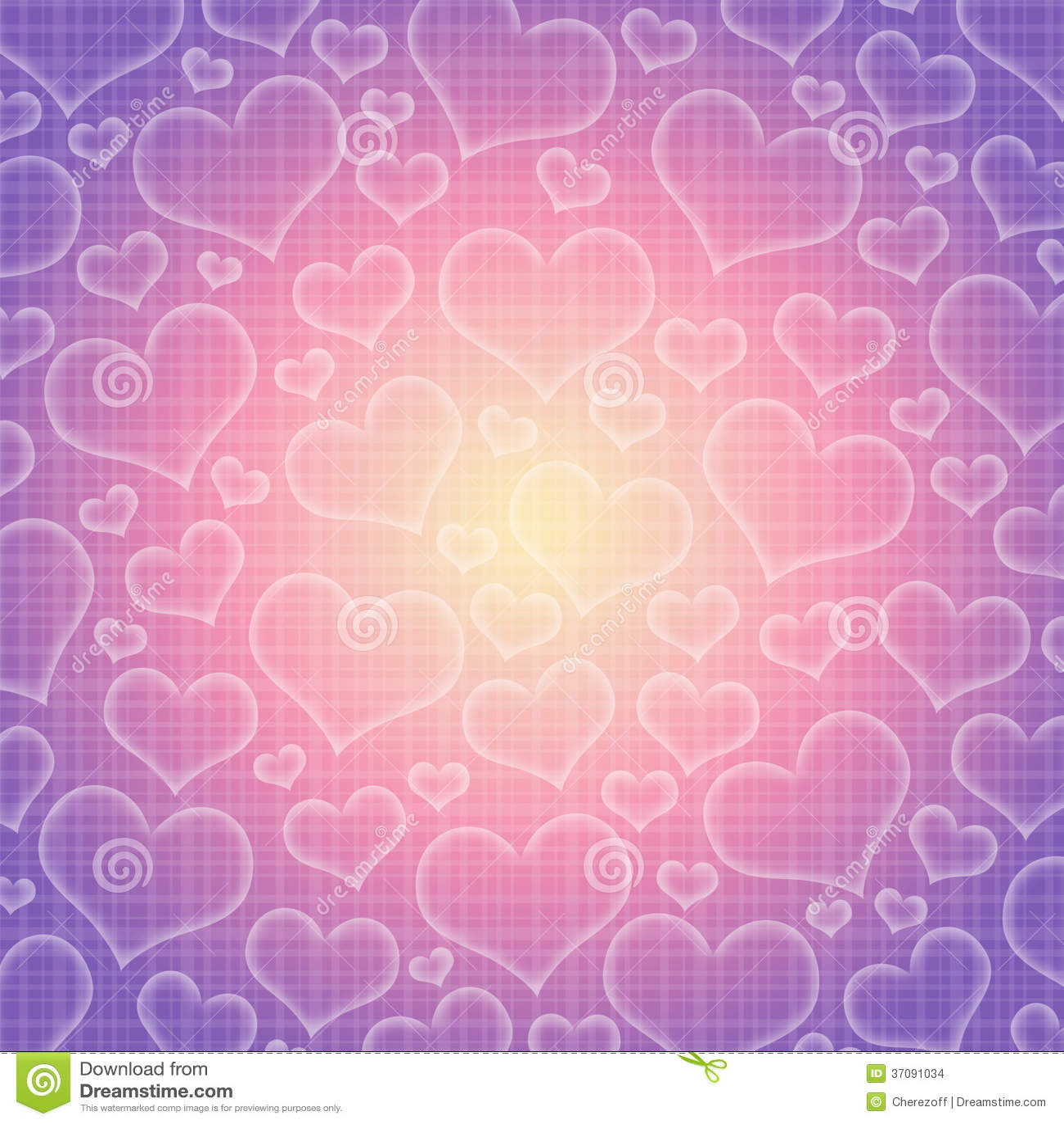 Download Abstrakcjonistyczny Tło Serca Ilustracji - Ilustracja złożonej z dzień, romantyczny: 37091034