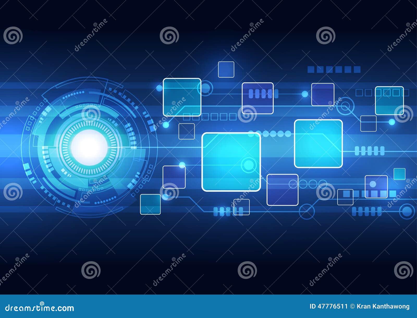 Abstrakcjonistyczny technologii tła projekta wektor