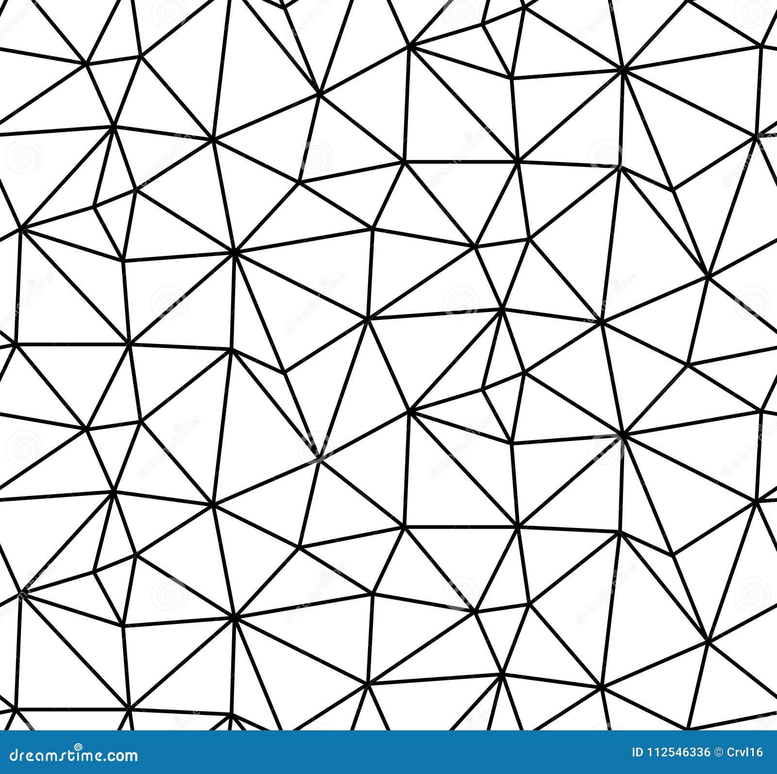 Abstrakcjonistyczny wektorowy bezszwowy biały tło czarne linie