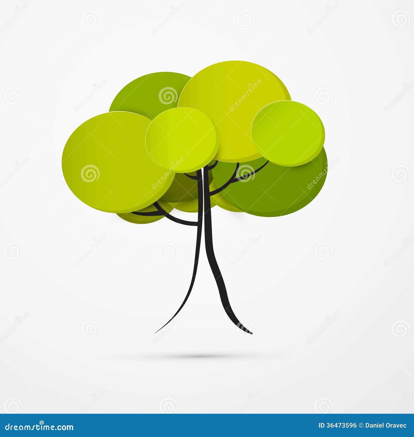 Abstrakcjonistyczny Wektorowy drzewo