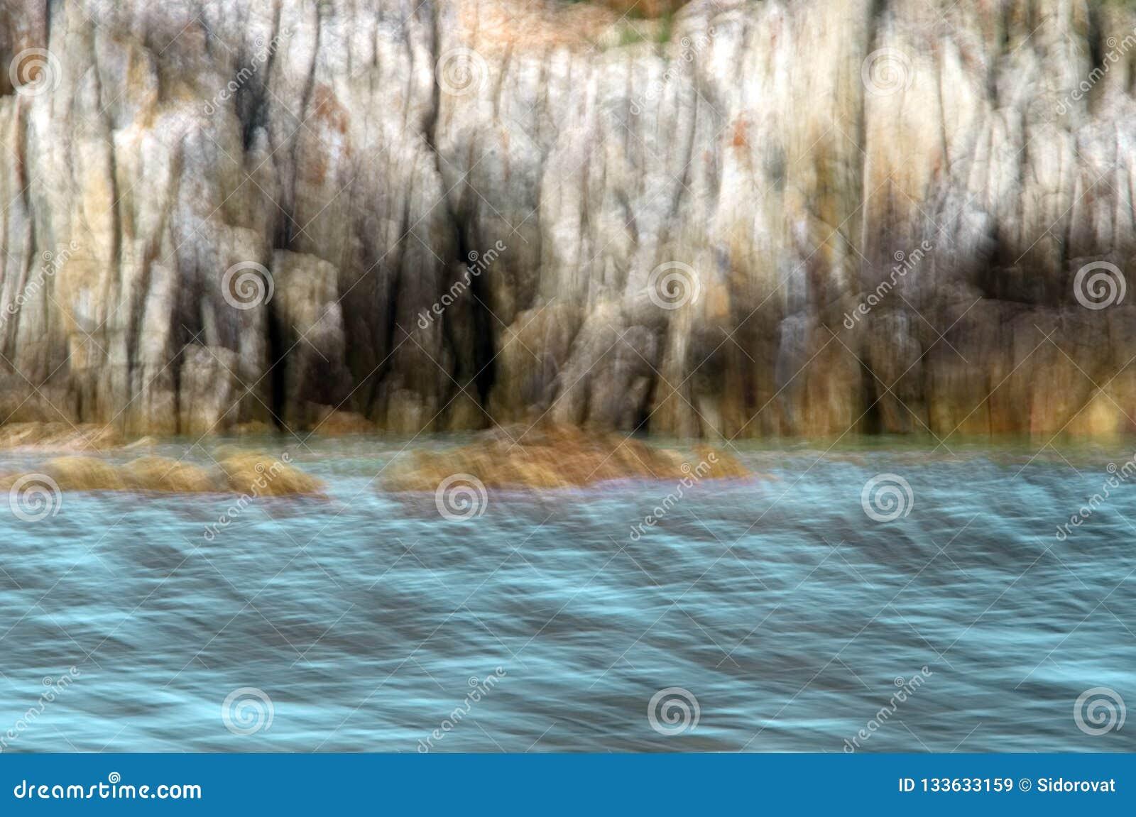 Abstrakcjonistyczny wizerunek morze i falezy
