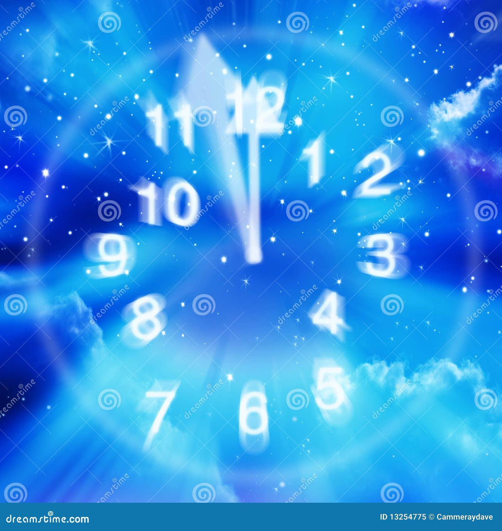 Abstrakcjonistyczny zegarowy niebo grać główna rolę czas