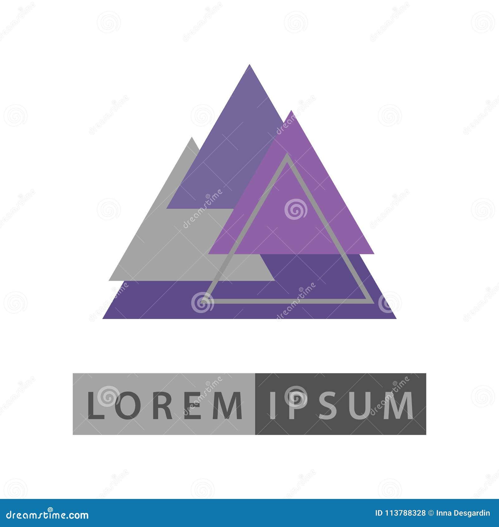 Abstrakcjonistycznych geometrycznych kształtów projekta wektorowy logo