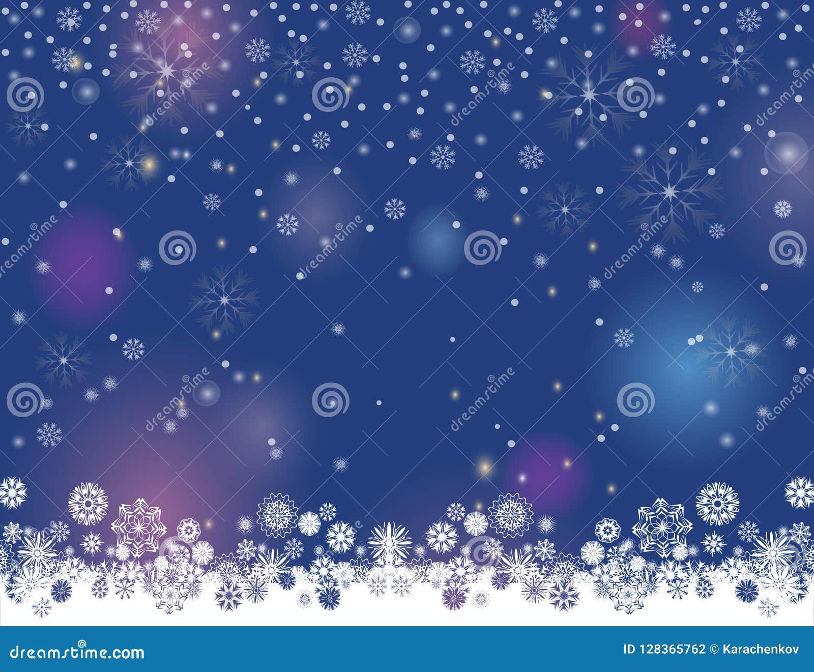 Abstrakcjonistycznych zimy nocy świateł rozmyty tło dla twój Wesoło bożych narodzeń Szczęśliwego nowego roku projekta i