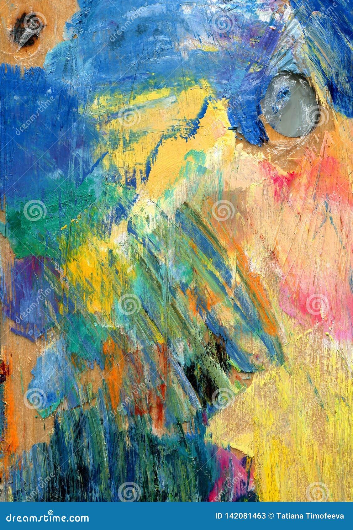 Abstrakcyjny tło kolorowa paleta Rysujący ręką