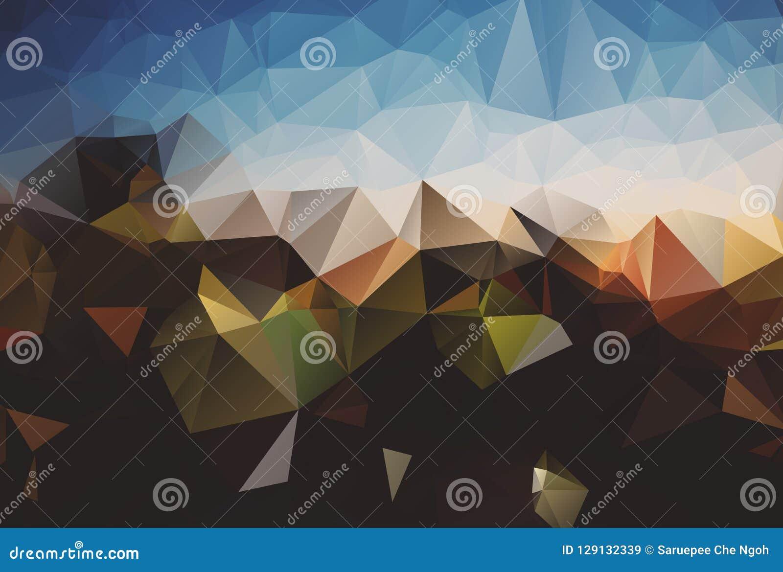 Abstrakcyjny tło Dla projekta kolorowy abstrakcjonistyczny tło Wektorowy szablonu wzór Geometryczni trójgraniaści mozaika kolory