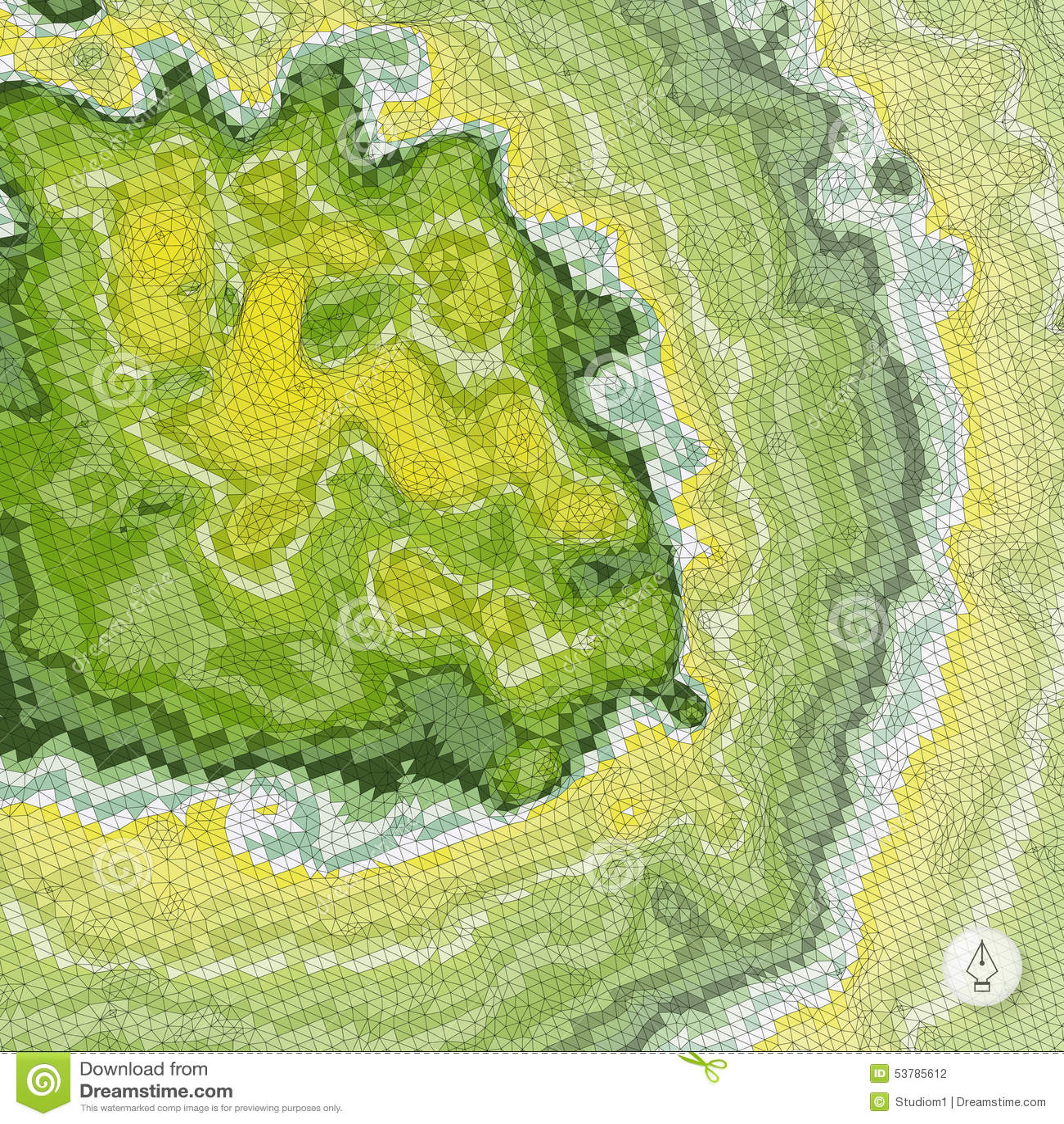 Abstrakcyjny tło krajobrazu mozaika