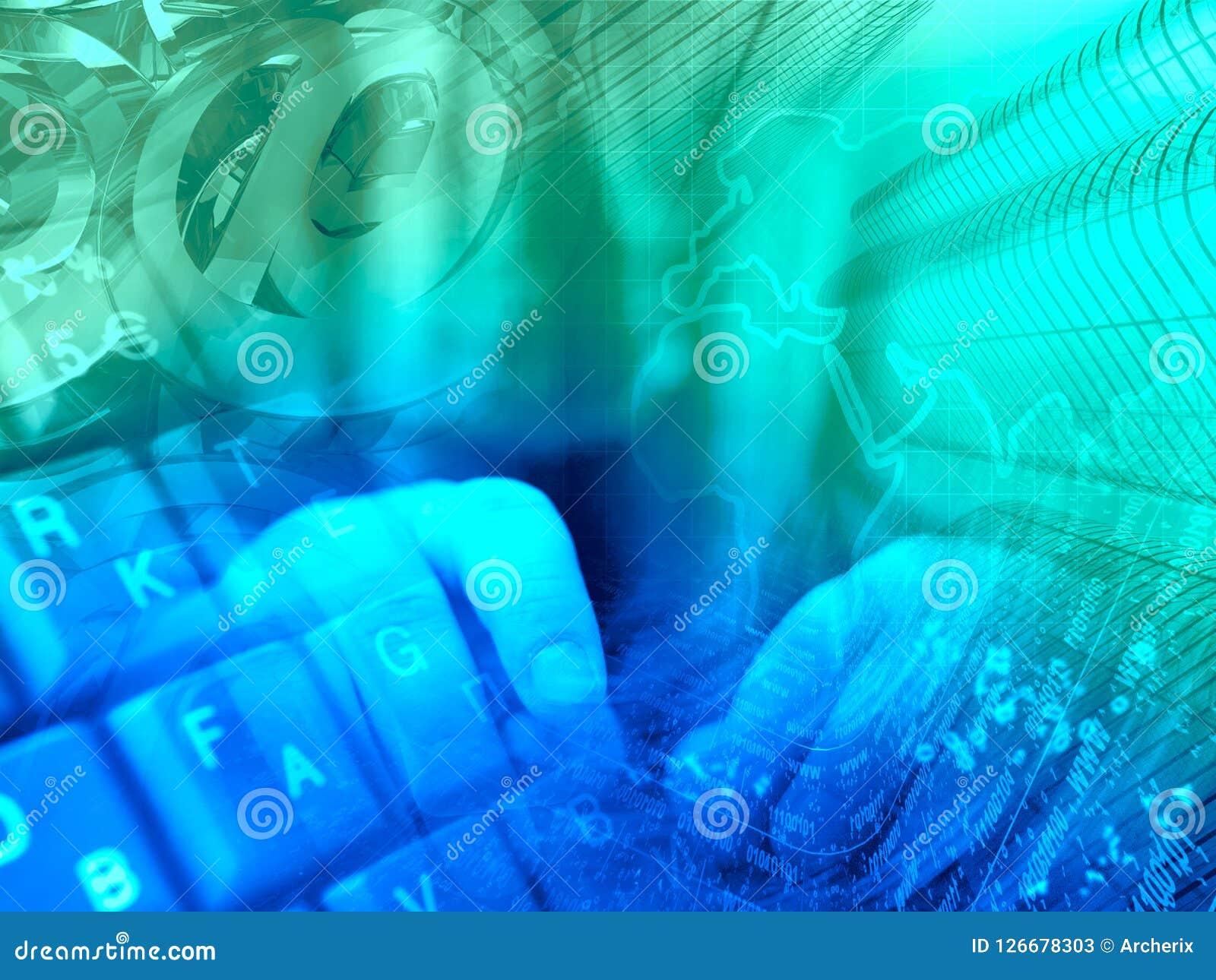 abstrakcyjny tło składu konceptualny komputer Royalty Ilustracja