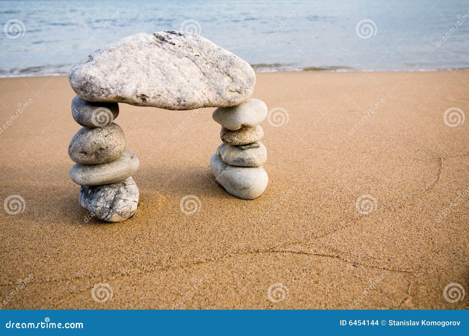 Abstraktów łękowaci kamienie naturalne
