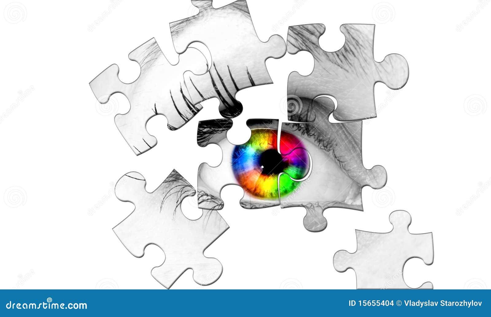 Abstrakt ögonhuman