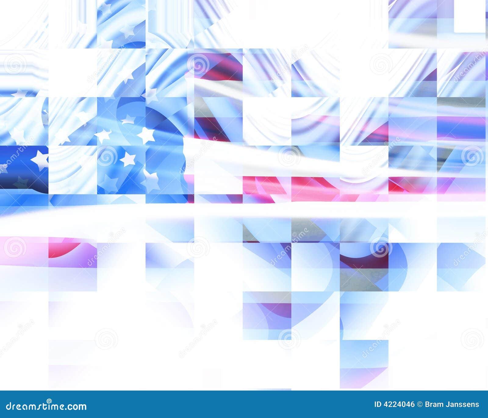 Abstrakt amerikanska flaggan