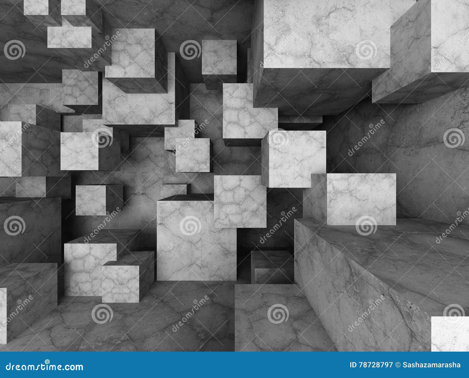 Abstrakt arkitekturbakgrund med många konkreta kvarter