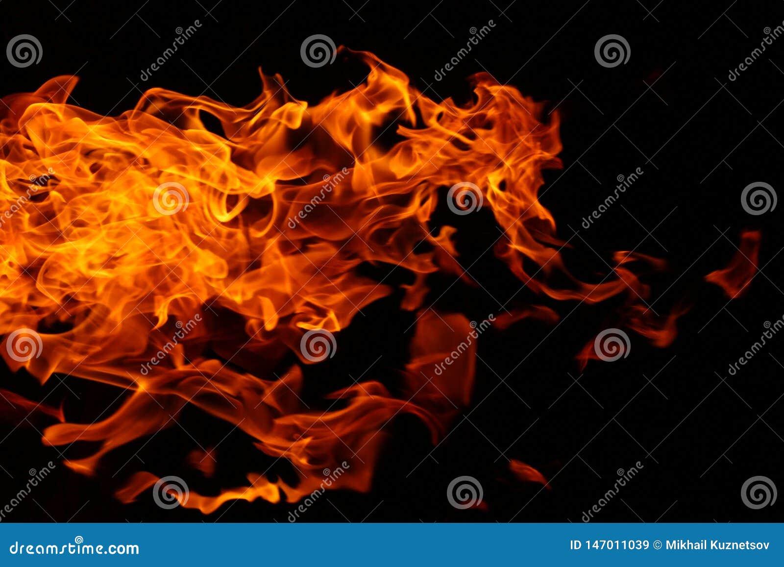 Abstrakt bakgrund av lös campa brand för buske