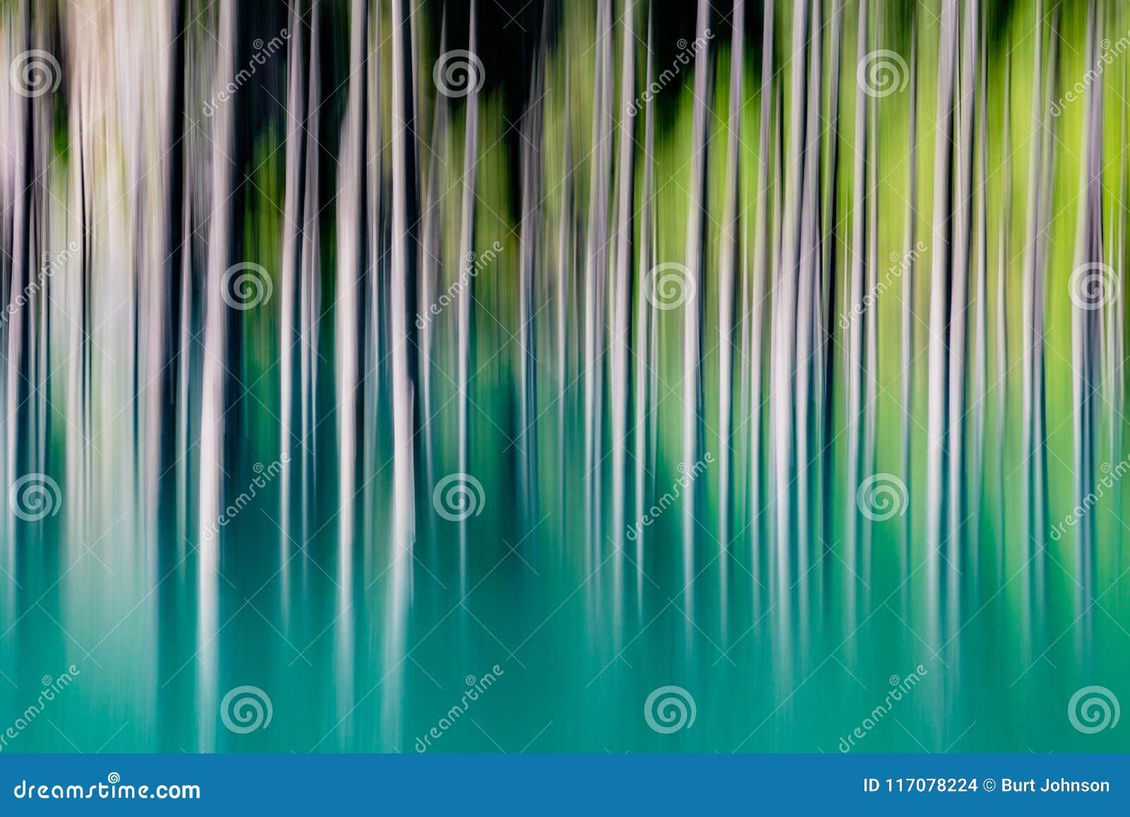 Abstrakt bakgrund av suddiga tomma träd