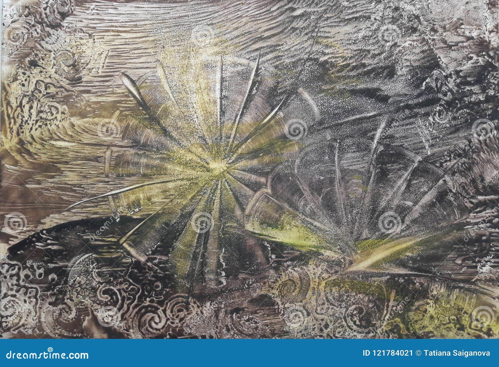 Abstrakt bakgrund blommar yellow