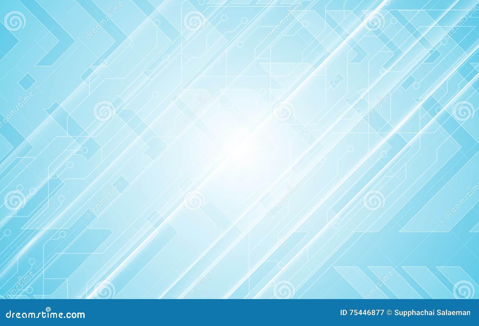 Abstrakt bakgrund för blått för design för rörelse för hastighet för pil för modell för strömkrets för begrepp för teknologikommu