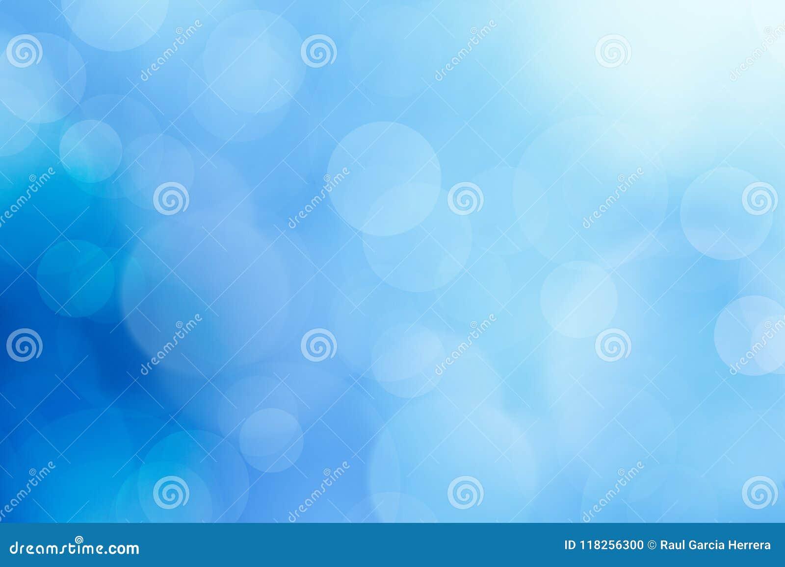 Abstrakt bakgrund för bokeh för havblått