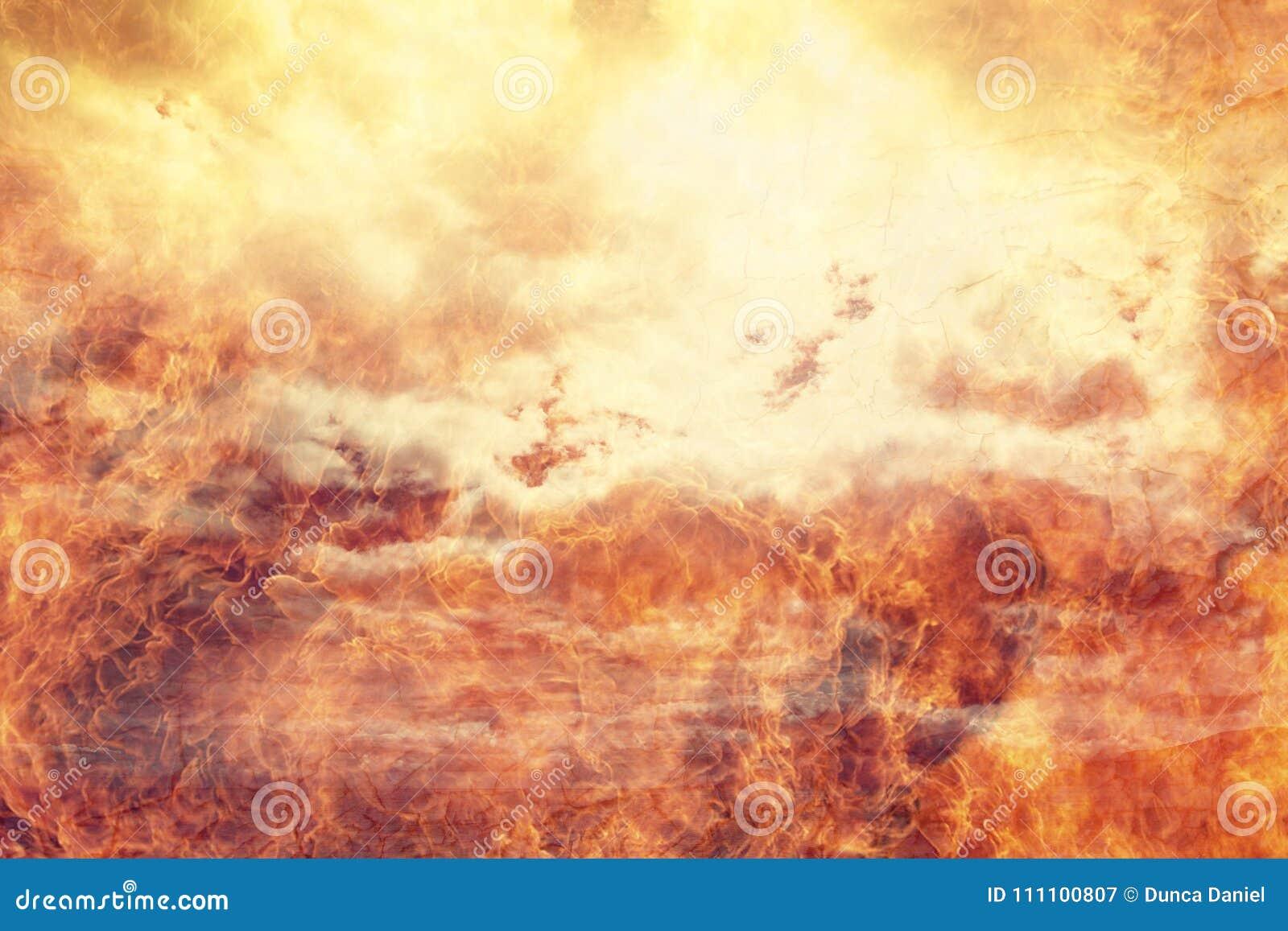 Abstrakt bakgrund för helvetebrandflammor
