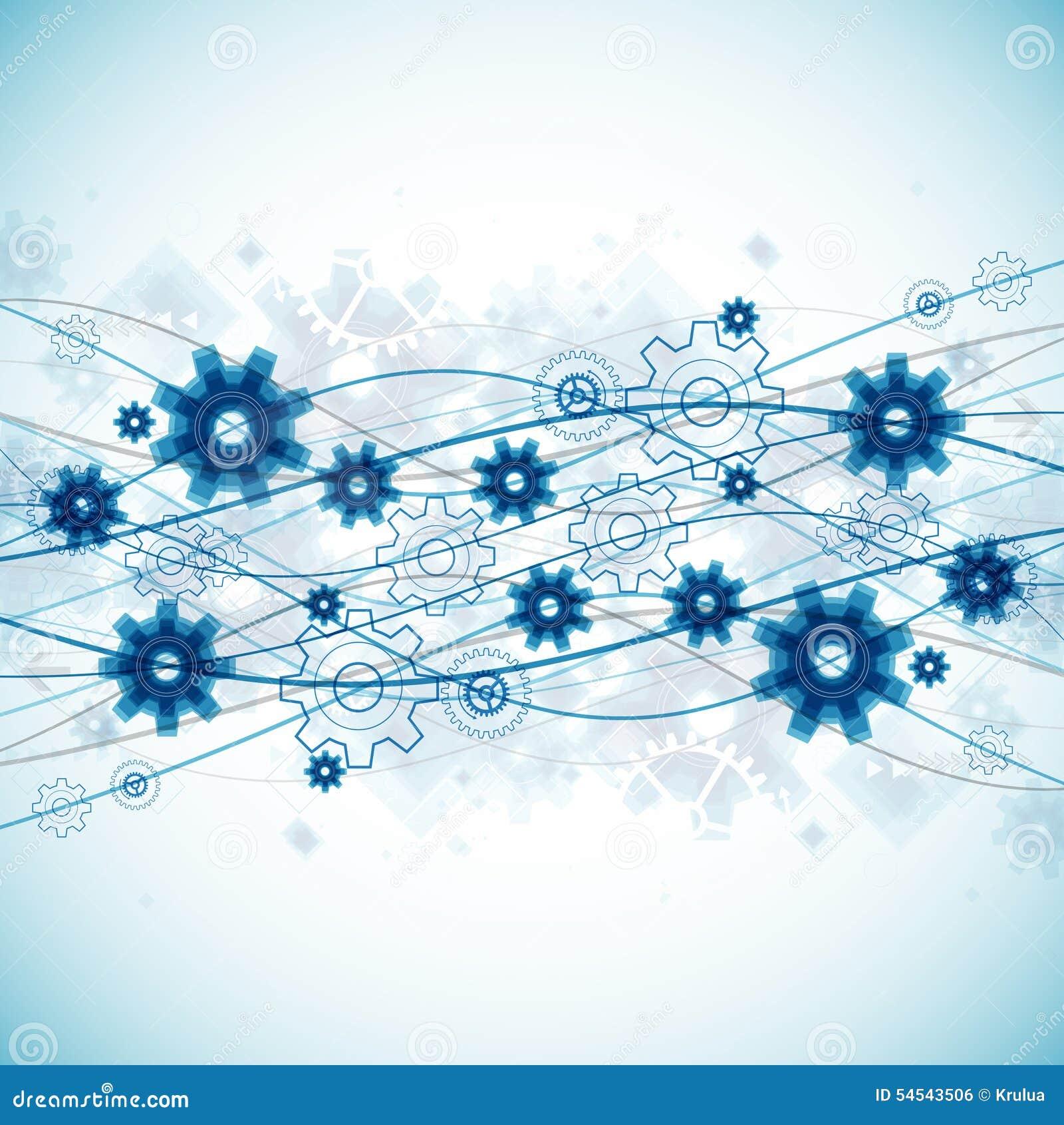 Abstrakt bakgrund för mall för affär för blåttvågteknologi