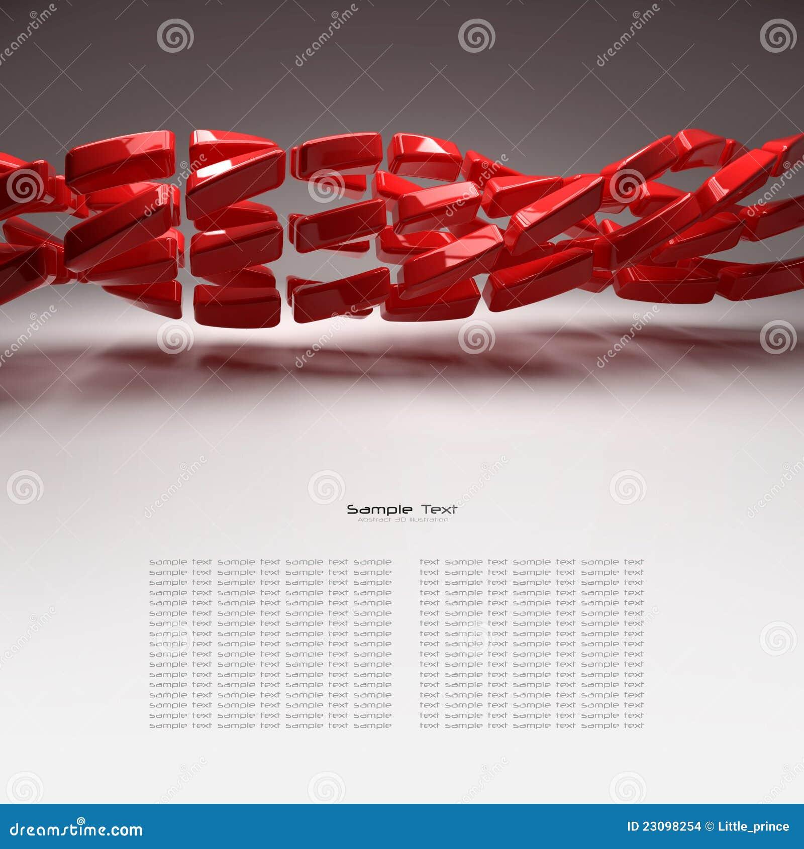Abstrakt bakgrund för plastic element 3d