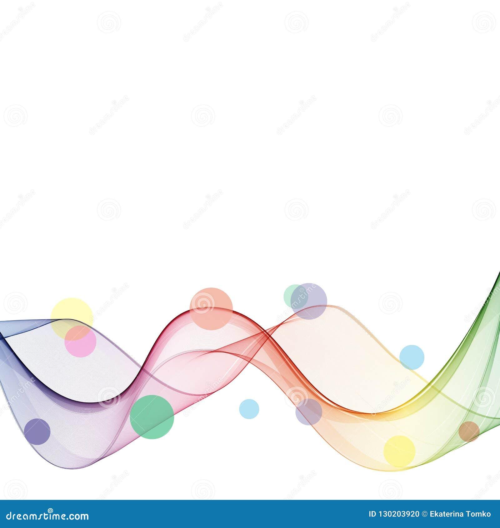Abstrakt bakgrund för vågvektorn, den vinkade regnbågen fodrar för broschyren, websiten, reklambladdesign Spektrumvåg Lycka- och