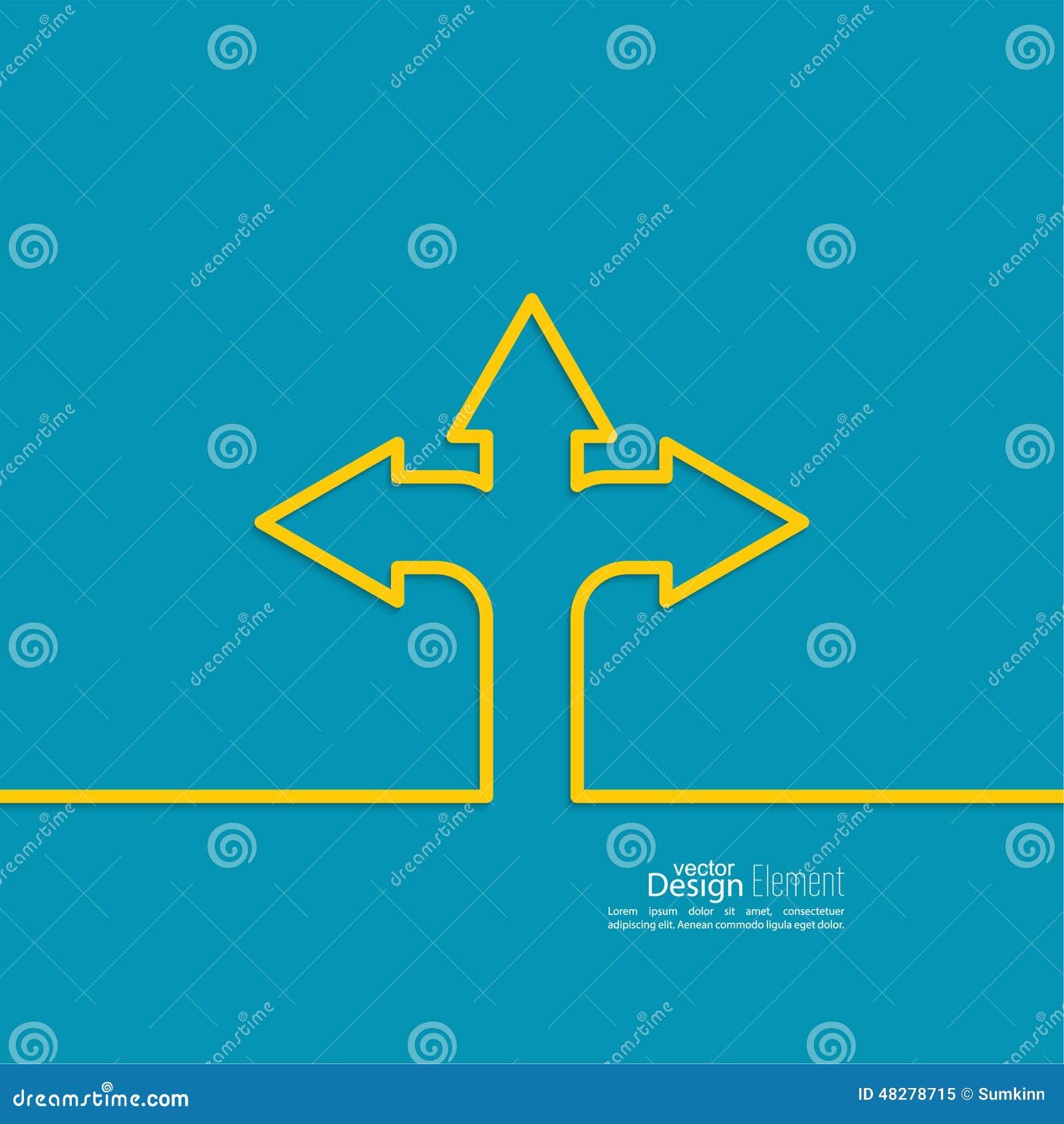Abstrakt bakgrund för vektor med riktningspilen