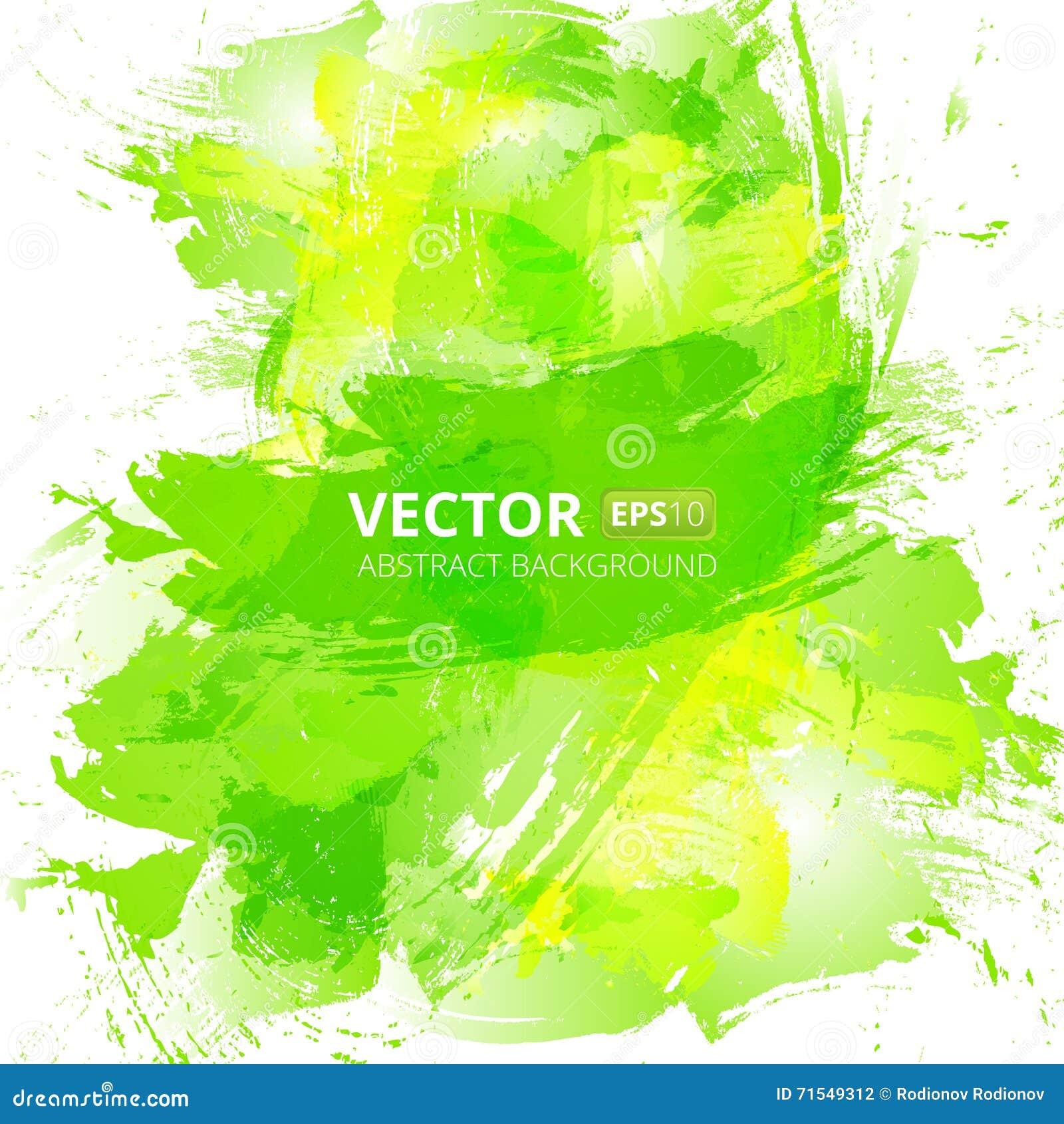 Abstrakt bakgrund för vektorgräsplanvattenfärg