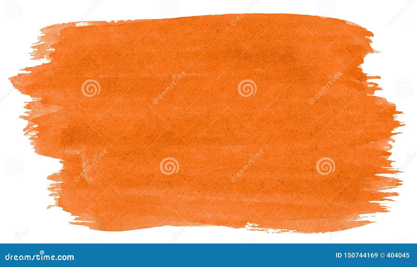 Abstrakt bakgrund för vibrerande orange vattenfärg, fläck, färgstänkmålarfärg, fläck, skilsmässa Tappningm?lningar f?r design och