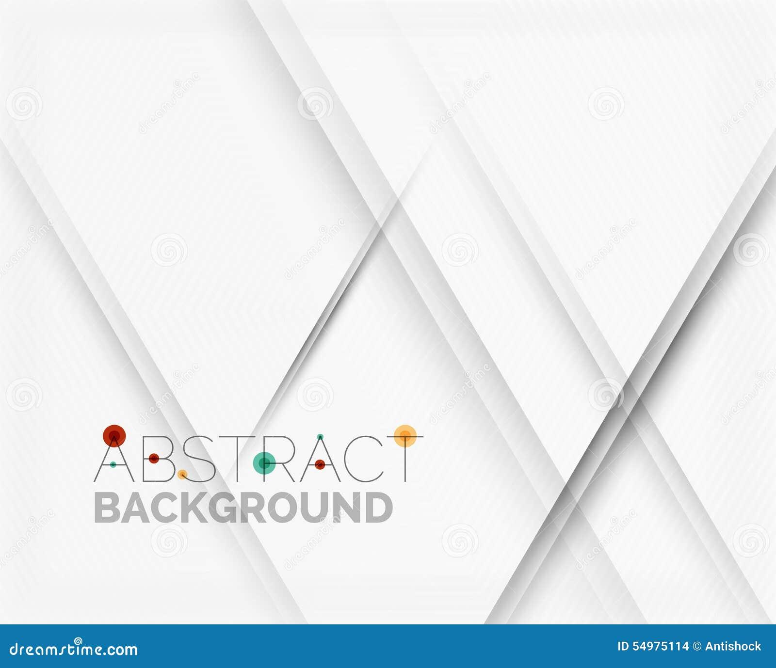 Abstrakt bakgrund för vit med linjer av skuggor