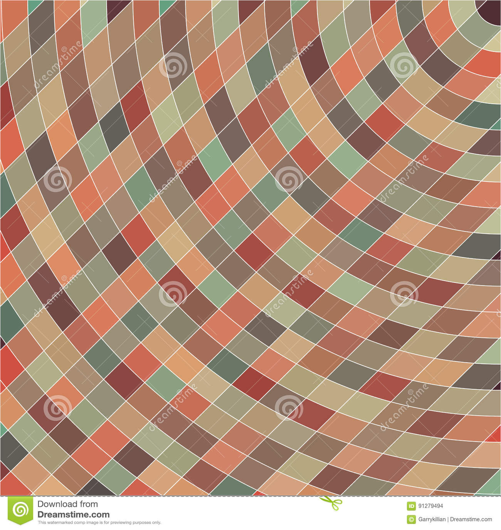 Abstrakt bakgrund, geometrisk design, vektorillustration Geometrisk tesselation av kulör yttersida Målat glass