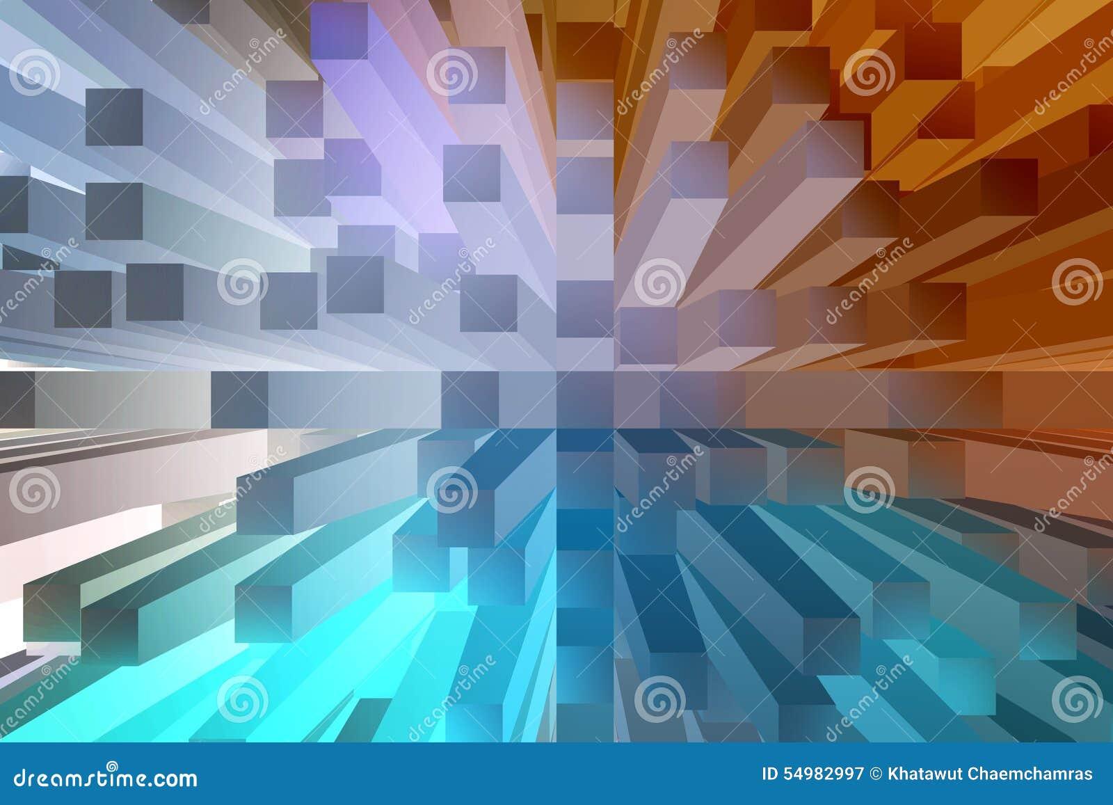 Abstrakt bakgrund med 3d pressar ut