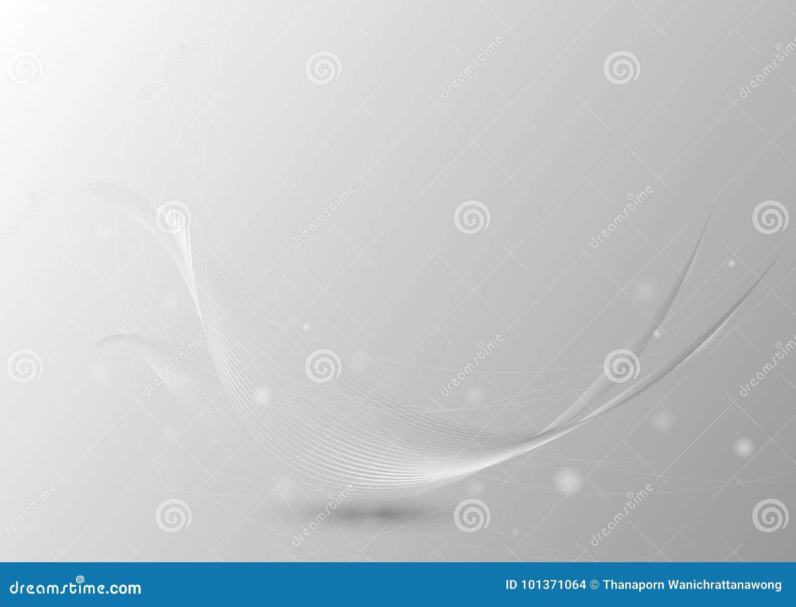 Abstrakt bakgrund med den genomskinliga vågen med blänker ljus