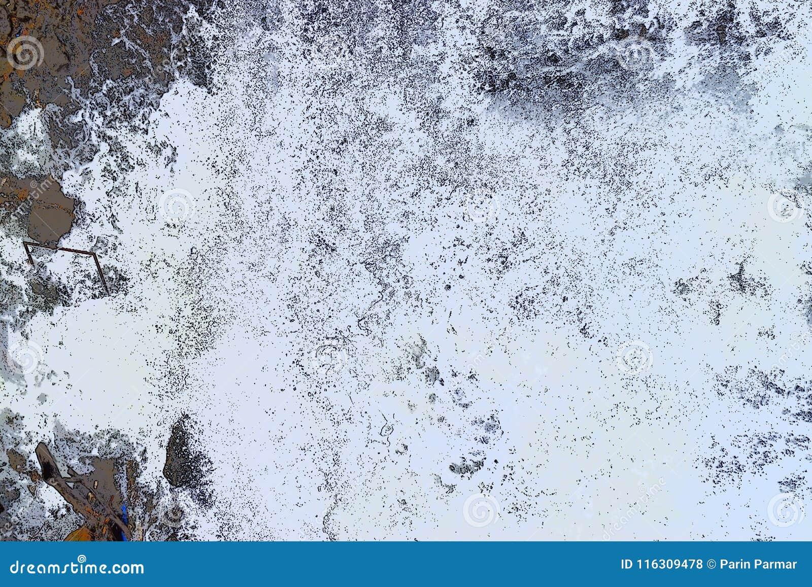 Abstrakt bakgrund - ojämna vitformer med svart och Grey Hues - flöde av vatten