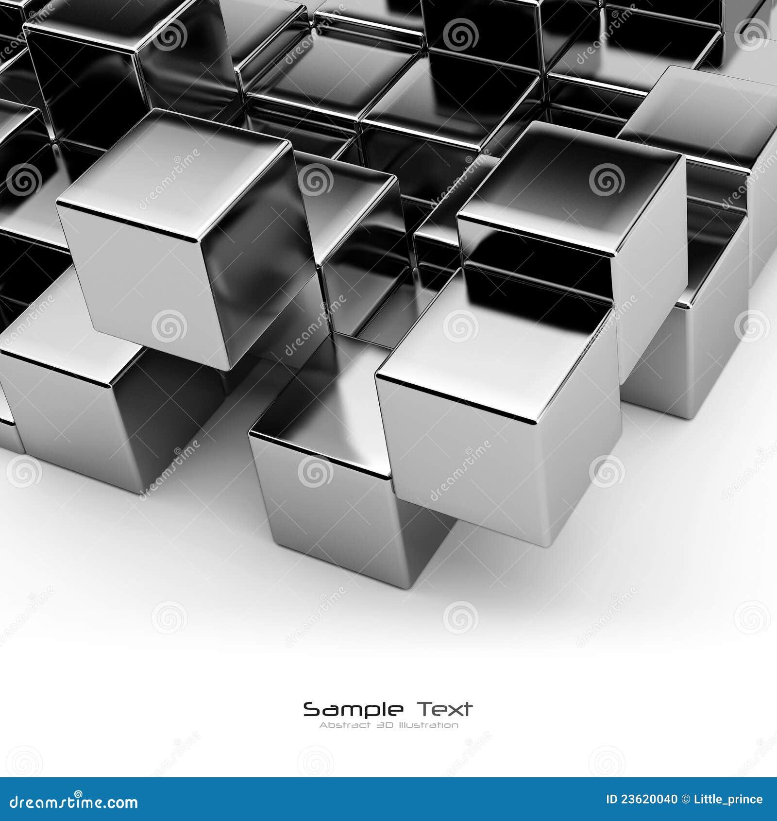 Abstrakt bakgrundsblackkuber