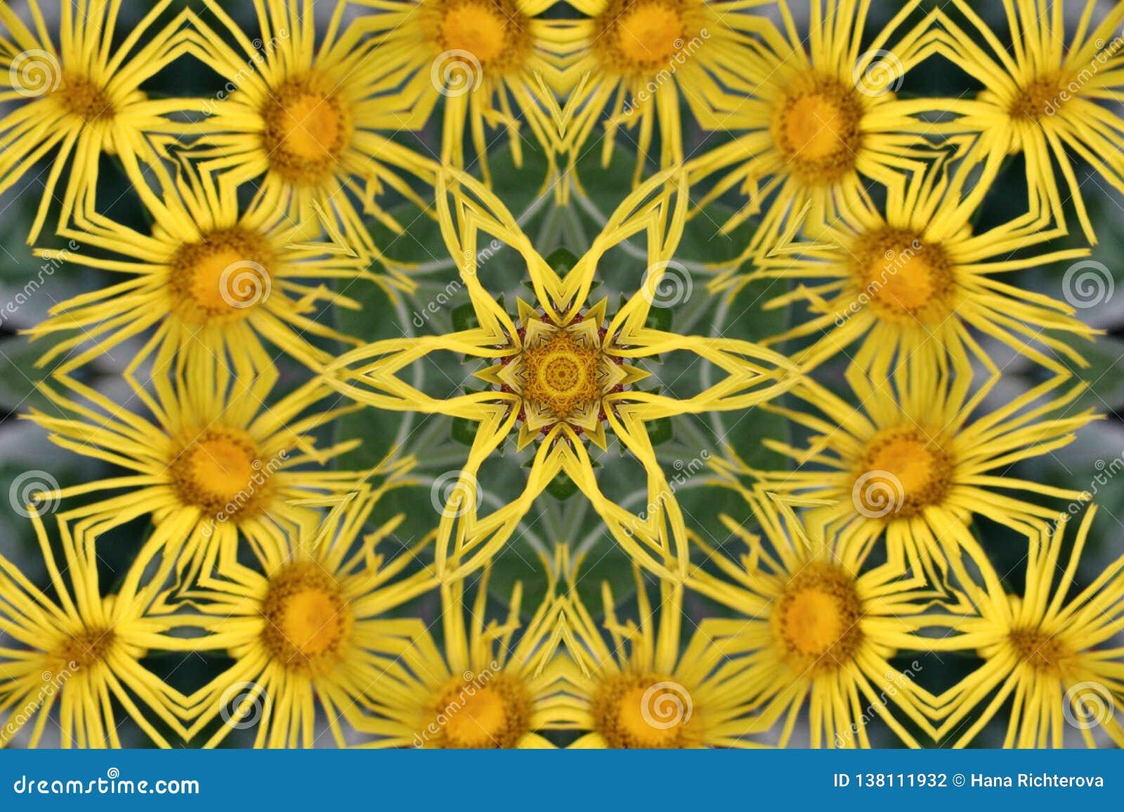 Abstrakt bakgrundskaleidoscope Härlig flerfärgad kalejdoskoptextur Unik och oefterhärmlig design Geometriskt symmetriskt